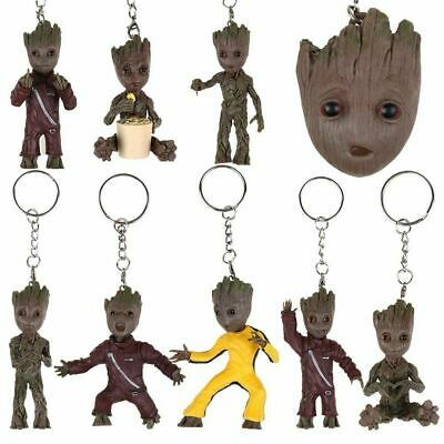 Guardians of The Galaxy Hand PVC Action Figure Key Chain Vol.2 Baby Groot Wave
