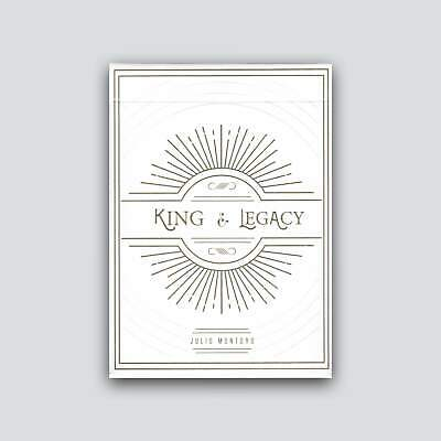 King and Legacy: Gold Edition Playing Cards - Gold, White, Fully Custom