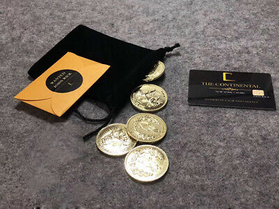 1:1 John Wick Movie Props Die-Cast Collection Gold Coins Continental Hotel Card