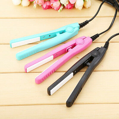 Mini Practical Electric Hair Styling Ceramic Straightener Curler Iron  KR