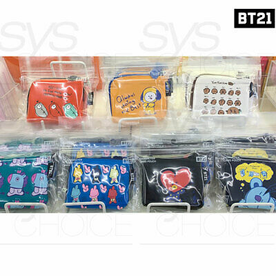 BTS BT21 Official Authentic Goods Card Pouch 11.5x 9.5cm 4.5x3.7in 7Characters