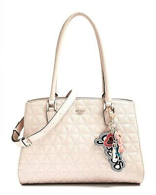 GUESS TABBI GIRLFRIEND Satchel Rosa, Damentasche Handtasche