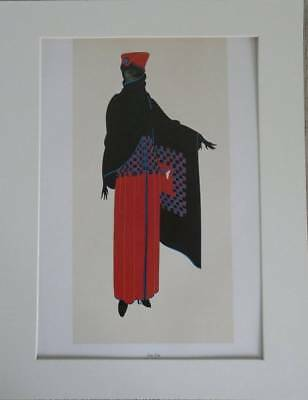 "Original Vintage Erte Art Deco Print ""Zsa Zsa"" In Mount 14"" X 11"""
