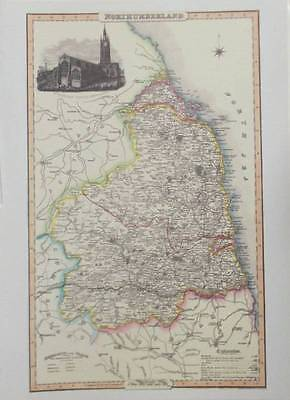 Map of the County of NORTHUMBERLAND : 1840 Pigot and Co -  Reproduction