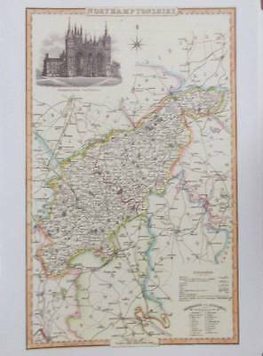 Map of the County of NORTHAMPTONSHIRE : 1840 Pigot and Co -  Reproduction