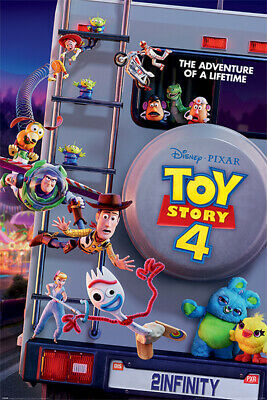 Toy Story 4 - Pixar Movie Poster (Adventure Of A Lifetime) (Woody, Buzz...)