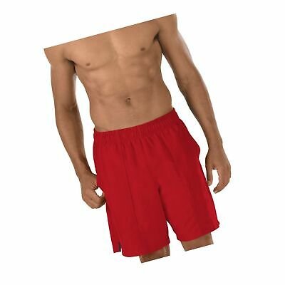 f71cd8f3c7 Speedo Men's Solid Rally Volley 19 Inch Workout & Swim Trunks Medium Red  Bluff