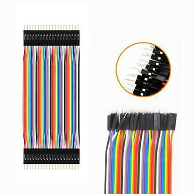 40pcs Dupont 10CM Male To Male Jumper Wire Ribbon Cable for Breadboard Ardu Q6H8