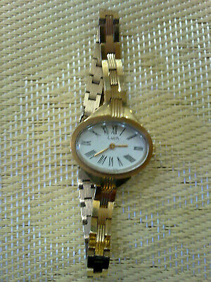 gold plated Vintage Old  women USSR Wrist Watch  LUCH