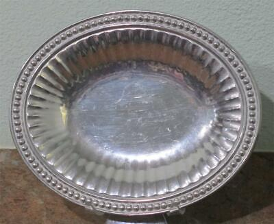 "RWP Wilton Armetale 'Flutes & Pearls' Oval Serving Tray 9.75"" ~ USA Made~EUC"