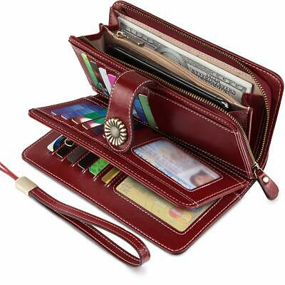 UMODE Vintage Style Genuine Leather Large Capacity Wallet Organizer for Women...
