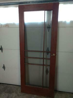 Vintage Original Mid Century Modern Wood Screen Door...SEE ALL PHOTOS.