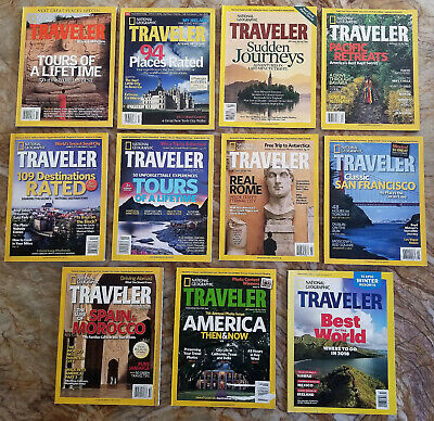 National Geographic Traveler Magazine 2005 2006 2007 2008 Each or VOLUME Discnt