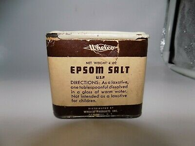 Vintage Medicine Tin Whelco Epsom Salt with Sliding Lid