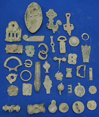ANCIENT ROMAN CELTS BYZANTINE TURKISH LOT DIFFERENT ITEMS field relic