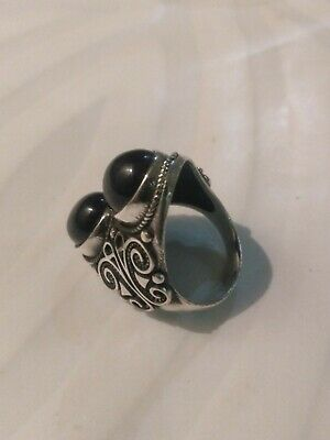 HANDMADE Antique Old Vintage Rare Viking Ethnic Silver handcraft Quality Ring