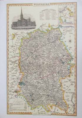 Map of the County of WILTSHIRE : 1840 Pigot and Co -  Reproduction