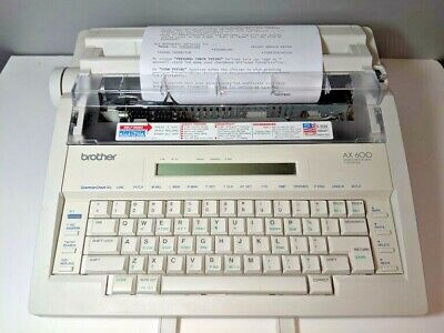 Brother AX-600 Daisy Wheel Portable Electric Word Processing Typewriter