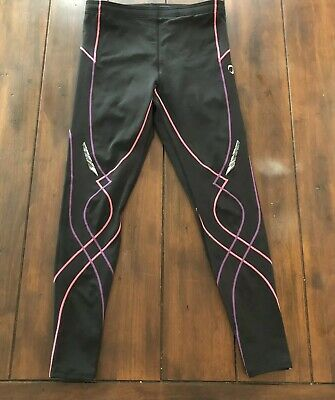 970c3bf909e CW-X Stabilyx Insulator Joint Support Compression Tights Size Large Black  Pink