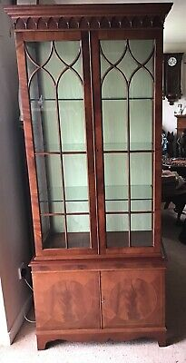 """74"""" X 31"""" X 15.5"""" Well Made 1970's Reproduction Edwardian Cabinet. delivery poss"""