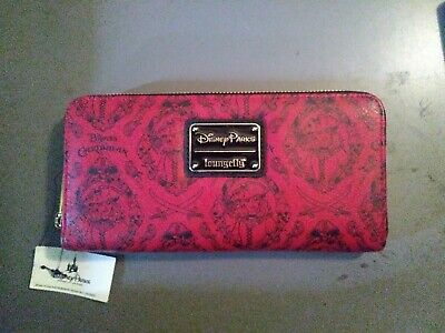 New Disney Parks Loungefly Pirates Of The Caribbean Red Zip Around Wallet