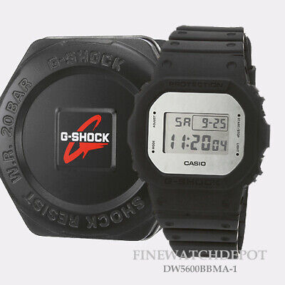 Authentic Casio Mens's G-Shock 35TH Anniversary Black Square Watch DW5600BBMA-1