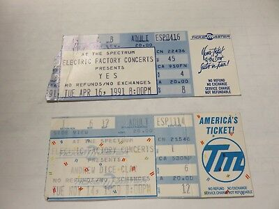 Used Concert tickets Andrew Dice Clay and Yes at the Spectrum
