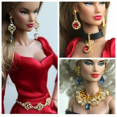 Fashion royalty/Poppy Parker/Color Infusion/ jewelry necklace earrings set