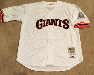 12494db8 Willie Mccovey San Francisco Giants Retro Throwback Jersey Mens XL NWT 89 WS
