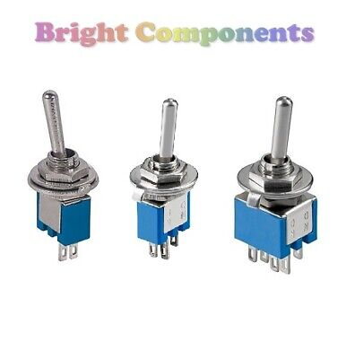 Miniature Toggle Switch (SPST, SPDT, DPDT) Flick Switch - 1st CLASS POST