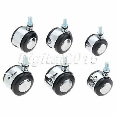 Office Home Chair Casters Swivel Furniture Plate Roller Trolley Replacement