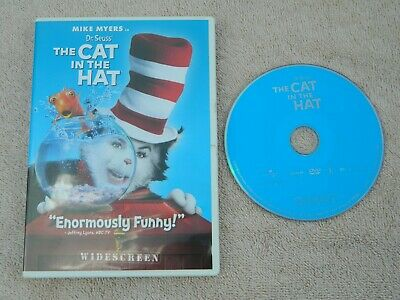 Dr. Seuss The Cat in the Hat (DVD, 2004, Widescreen Edition) Used - Free Shippin