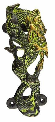 Dragon Shape Antique Vintage Style Handmade Solid Brass Door Pull Handle Knob H1