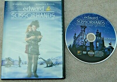 Edward Scissorhands (DVD, 2005, Anniversary Edition Full Frame) Free Shipping