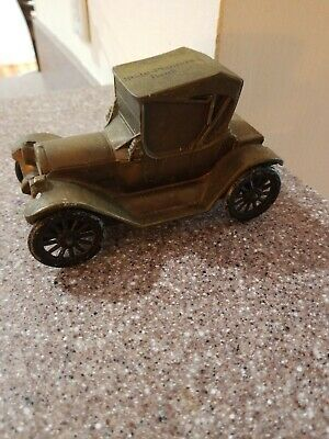 Bronze Model T State Planters Bank Metal  Coin Bank Vintage