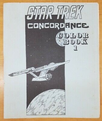 STAR TREK Concordance Color Book 1 Mathom House 1973 RARE
