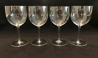 "BACCARAT MONTAIGNE Crystal Set Of 4 CLARET WINE GLASSES 5 3/4"" Stems FRANCE"
