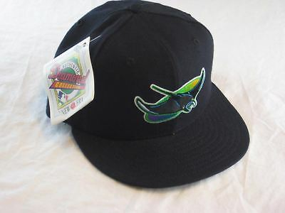 wholesale dealer f7653 3dafa Vtg 90s Baseball Hat Cap New Era 5950 Fitted Tampa Bay Devil Rays MLB Wool 7