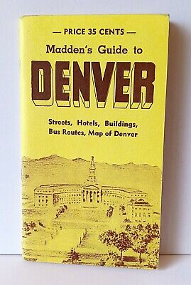 Madden's 1952 Guide to Metropolitan Denver with fold-out map vintage 1950s