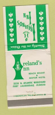 Matchbook Cover - Ireland's Inn Beach Resort Fort Lauderdale FL WEAR 30 Strike