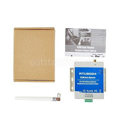 RTU5034 GSM Gate Opener Relay Switch Remote Access Control Unit 2G Version os12