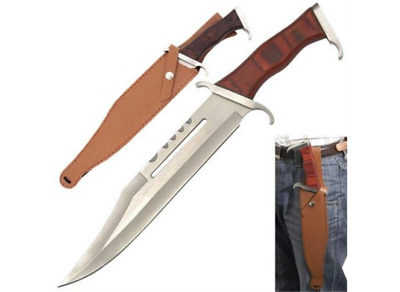 """15 3/4"""" Rambo Style 440 Stainless Steel Survival Fixed Blade Bowie Knife"""