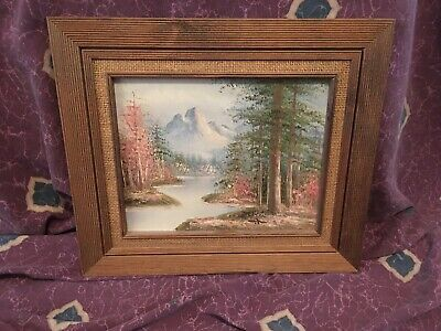 Original Oil Painting of Majestic Mountains by Antonio