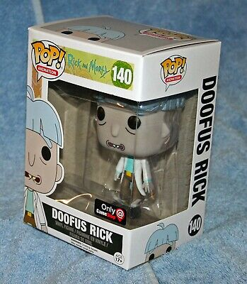 Rick & Morty Funko POP DOOFUS RICK 140 Gamestop Exclusive Vinyl Figure TV