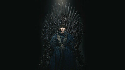 Game of Thrones Bran stark in the iron throne 24 X 14 inch Silk Poster