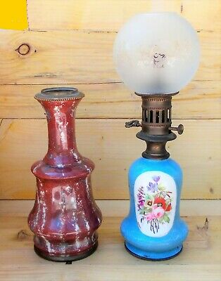 Feet of Lamp Petrol 19th Paper Old Paris Photos and Faience