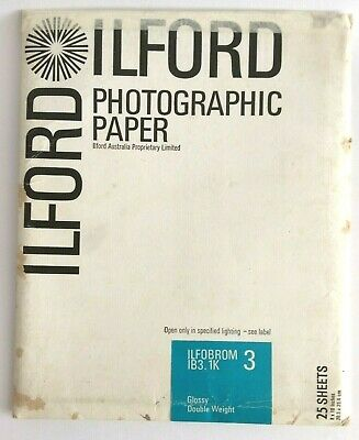 Vintage Ilford Photographic Paper Ilfobrom 1B3.Ik 3 Paper Size 8.10 In