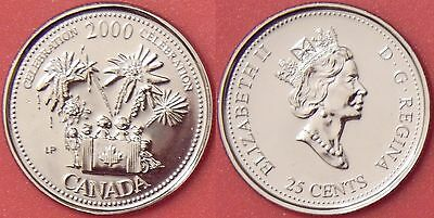 Proof Like 2000 Canada Celebration 25 Cents From Mint's Set