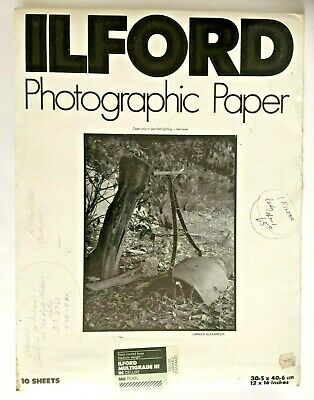 Vintage Ilford Photographic Paper Multigrade Iii Rc Deluxe Mg- Pearl