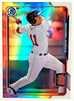 Hot Rookie!! Michael Chavis Rookie Refractor! 2015 Bowman Chrome #133 Red Sox!!